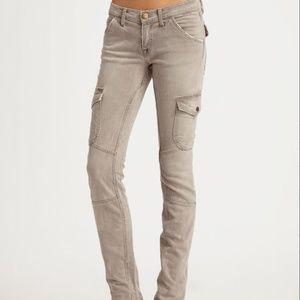 CURRENT ELLIOTT $248 Khaki The SKINNY CARGO Jeans